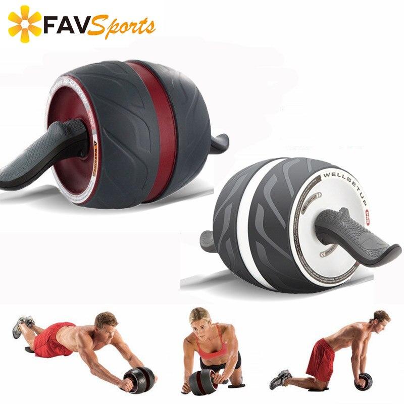 Exercices abdominaux d'entraînement de roue d'entraînement de roue d'entraînement de rouleau d'ab d'entraînement de force de paquet de 6 abdominaux