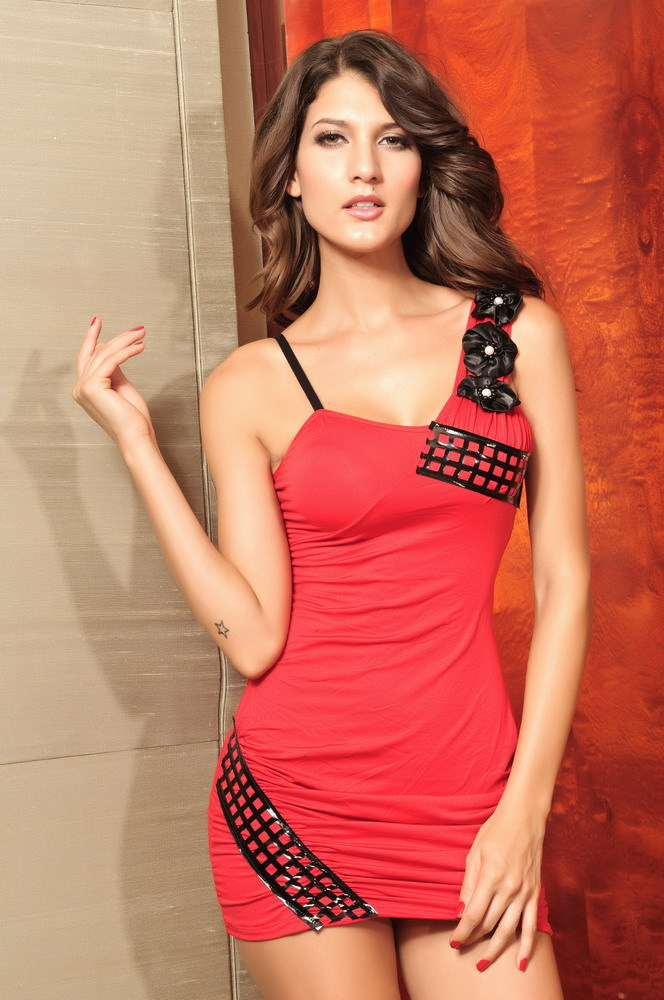Outdoor Sexy Mini Dresses 2013 Women Short Dresses Girls -2710