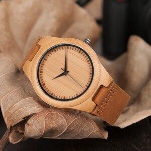 Image 2 - BOBO BIRD นาฬิกาไม้ไผ่สำหรับชายนาฬิกาข้อมือควอตซ์ชาย часы мужские montre Homme Mens นาฬิกานาฬิกา Dropshipping