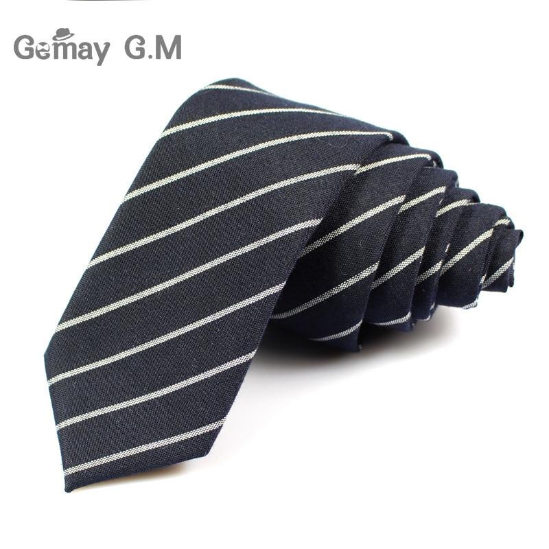 Divat alkalmi pamut kockás csíkos férfi nyakkendők 6cm keskeny - Ruházati kiegészítők - Fénykép 3