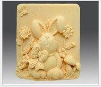 74*74*33mm Królik Kształt Silikonowe Formy Ciasto Sugarcraft Kremówka Dekorowanie Narzędzia Akcesoria Kuchenne Ciasto Czekoladowe Narzędzia