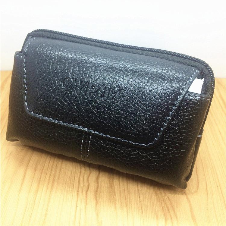 Men Fanny Pack Black Brown PU Leather Zipper Mobile Phone Bag Coin Purse Burses Good Quality Bags Casual Waist Packs Man Purses