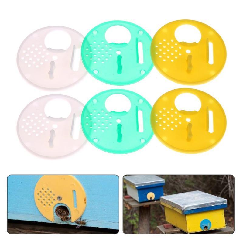 Bee Hive Nuc Box Entrance Gate Tool 12X Plastic Bee Nest Door Entrance Disc