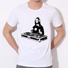 """DJ Mona Lisa"" +other designs – men's t-shirt"