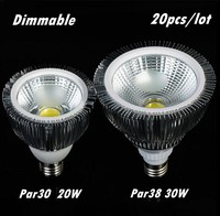 New Ultra Bright E27 E26 B22 Par30 PAR38 LED Light Bulb Lamp 85 265V 20W 30W