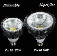 Mới Ultra Bright E27 E26 B22 Par30 PAR38 LED Light Bulb đèn 85-265 V 20 Wát 30 Wát Dimmable COB SpotLight Bóng Đèn Bóng Đèn Chiếu Sáng Trong Nhà