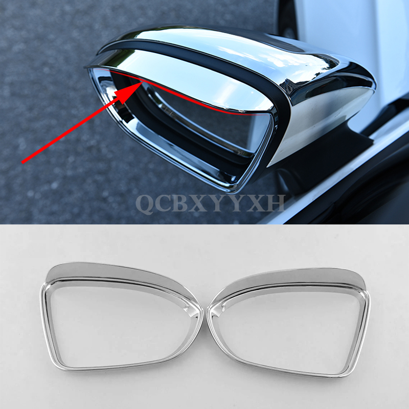 2017 font b Car b font Styling 2pcs lot ABS Aluminum Rear Mirrors decorative frame font