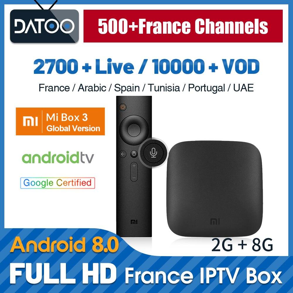 Full HD French IPTV Subscription XiaoMi Mi Box 3 TV Box IPTV Arabic France Turkey IPTV Arabic Qatar Belgium IP TV Germany Italy-in Set-top Boxes from Consumer Electronics