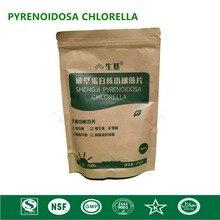 قرص شلوريلا عضوي شلوريلا Pyrenoidosa مكسور عالي الجودة غني بالكلوروفيل والبروتين