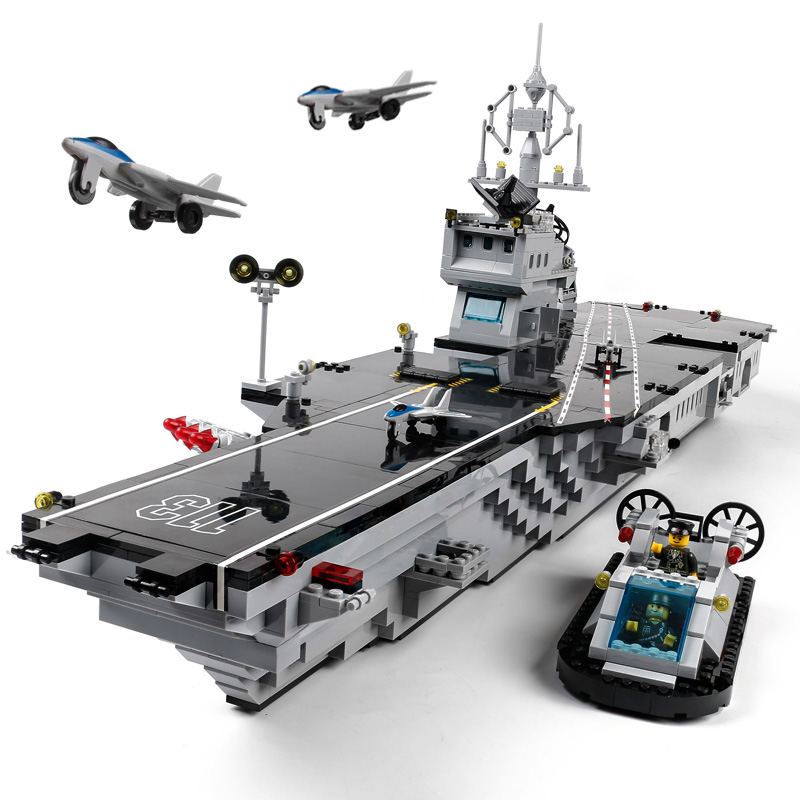 Military Education Building Blocks Toys Children's Gifts Military Ship Destroyer Aircraft Weapon Compatible legoe enlighten building blocks navy frigate ship assembling building blocks military series blocks girls