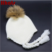 Which in shower Kids pigtail warm knitted bomber ha