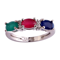 Women Rings Fashion Oval Cut Ruby Emerald Blue Sapphire 925 Silver Ring Size 6 7 8 9 10 11 12 Free Shipping Wholesale Party