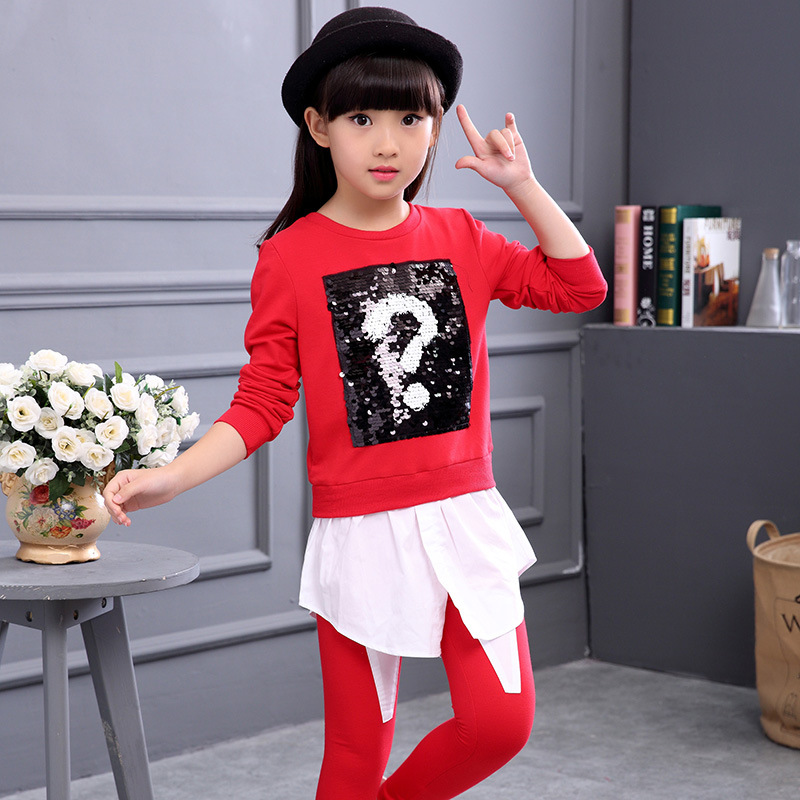 2016 spring and autumn cotton girls clothes long sleeve font b sweatshirt b font little girl