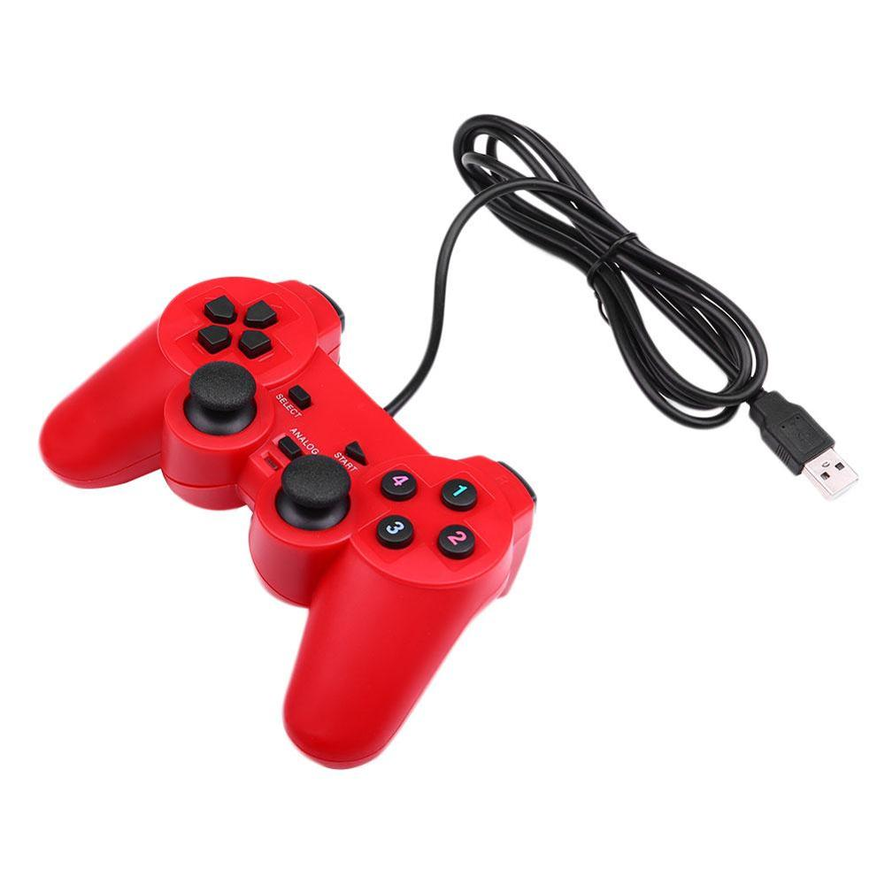 Gasky USB Wired Gamepad Game Controller Gaming Joypad Joystick Control for  PC Computer Laptop Gamer Red/Blue