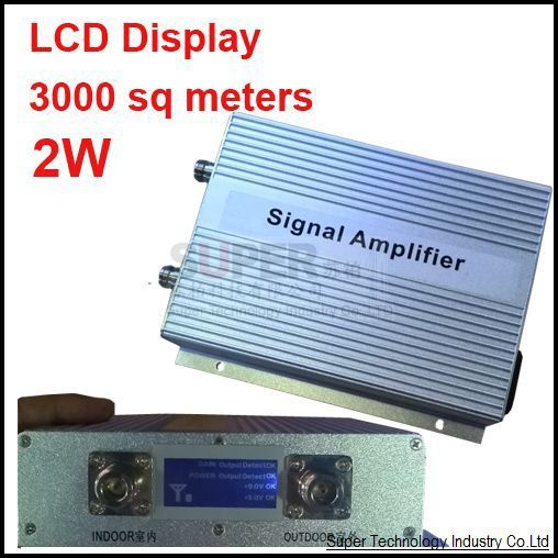 LCD display 2W 3000sq meters,gain 75DB,GSM booster,GSM repeater,900Mhz booster,GSM enlarger,900Mhz repeater,Free  shippping