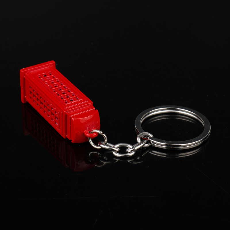 Mqchun Film Doktor Siapa Gantungan Kunci Dr. Misterius Warna Merah Dalek Tardis Police Kotak Gantungan Kunci Chaveiro untuk Pria & Wanita- 50