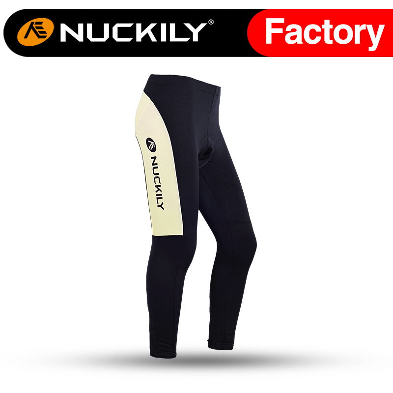 Nuckily Winter womens Sublimation cycling tights pad compression fleece pants GF006