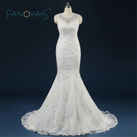 Robe De Mariage Princess Bling Scoop Pearls Luxury Crystals Wedding Dress Gown Bridal Wedding Gown Vestido