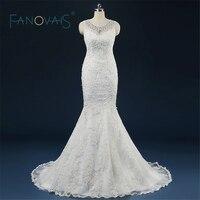 Robe De Mariage Princess Bling Scoop Pearls Luxury Crystals Wedding Dress Gown Bridal Wedding Gown Vestido