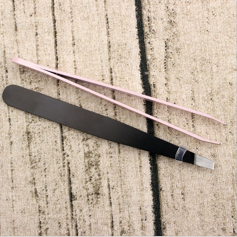 Professional Makeup Tools Stainless Steel Slant Tip Hair Removal Eyebrow Tweezer Make Up Cosmetic Tool Useful Beautiful