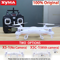 Syma X5C X5C-1 2.4G Quadcopter Drone Com Câmera ou X5 sem câmera RC helicóptero com controle remoto