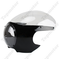 5 3/4 Cafe Racer Drag Racing Headlight Fairing & Clear Windshield Motorcycle