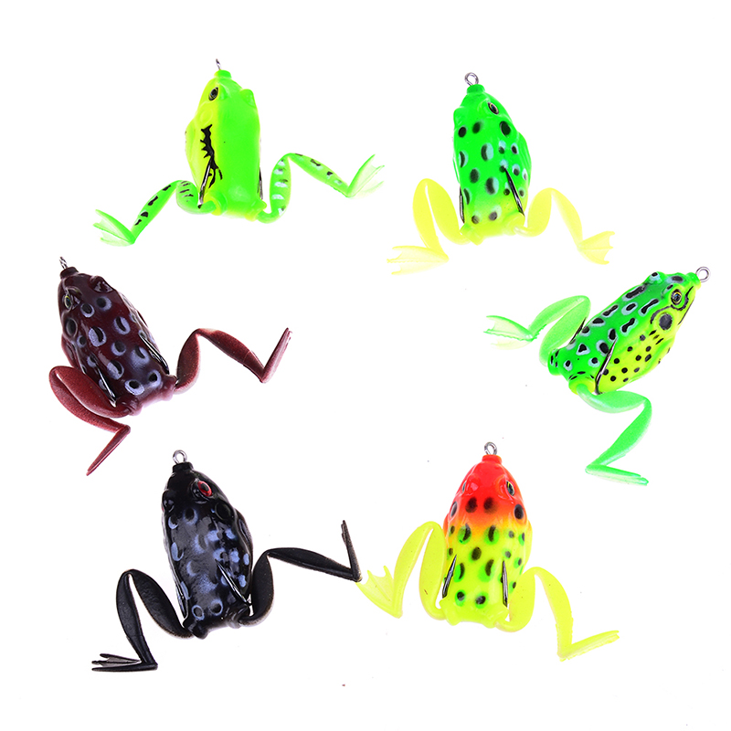 1PC 7CM 9g Lifelike Leg Jump Frog Bait Enticement Lures Silicone Bait Fishing Tackle