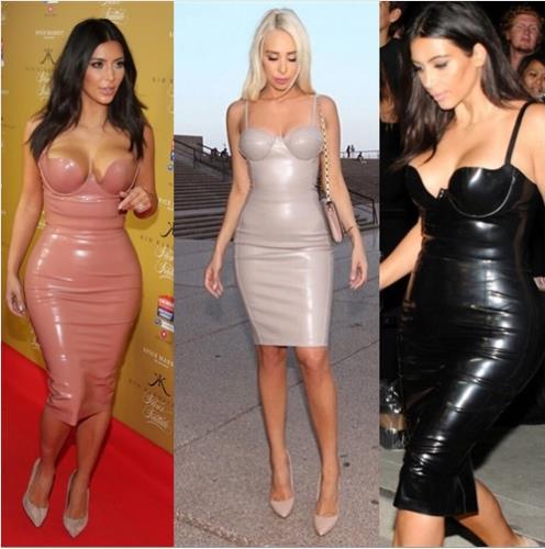 Kim Kardashian Hot Blackpinkbeigebluegold Womens Faux Leather