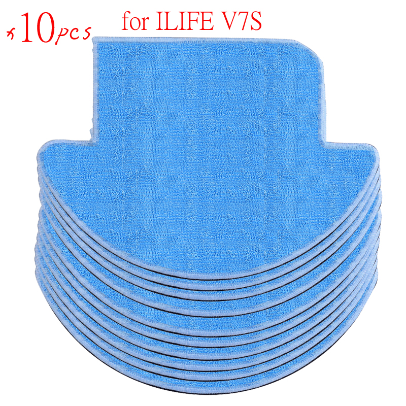 10 pcs ilife Robot Vacuum Cleaner MOP Cloths for chuwi ilife v7s Replacement Mop Cleaning Robot Vacuum Cleaner Mop pakwang advanced d5501 wet and dry robot vacuum cleaner washing mop robot vacuum cleaner for home