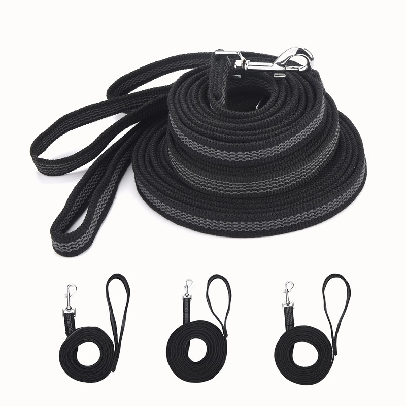 New Anti-skid Rubber And Nylon Medium And Large Dog Leash Hand-held Design Big Dog Chain Training Supplies Pet Traction Rope