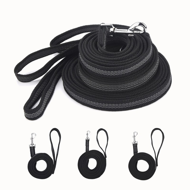 Anti-skid Rubber and Nylon  Hand-held Pet Traction Leash