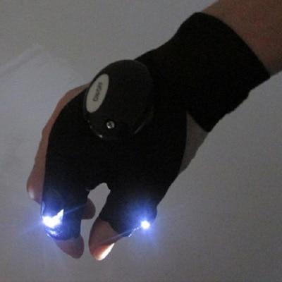 1 Pcs LED Light Finger Lighting Flashing Gloves Outdoors Electrician Repair Work