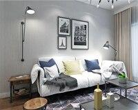 Beibehang Modern Simple Plain Dark Blue Nonwoven Wall Paper Living Room Restaurant Full Of Green Papel