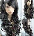 Free Shipping>>>like real hair! New Fashion Wigs Long Black Cosplay