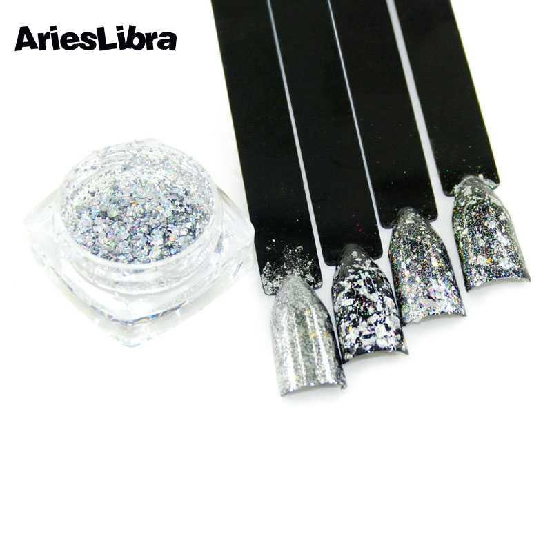 AriesLibra lazer tavuskuşu toz glitter toz ayna etkisi tozu pul tırnak jeli lehçe krom Pigment tırnak sanat süslemeleri