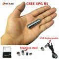 Зарядка От USB LED Фонарик Фонарик CREE XPG R5 Супер Мини LED Брелок Из Нержавеющей стали Фонарик 10180 литиевая батарея
