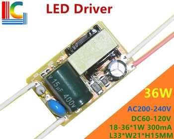 36W Led Driver 18W/19W/20W/21W/22W/23W/24W/25W/26W/27W/28W/29W/30W/31W/32W/33W/34W/35W/36W Lamp Transformer Output 300mA 100PCs - DISCOUNT ITEM  5 OFF Lights & Lighting