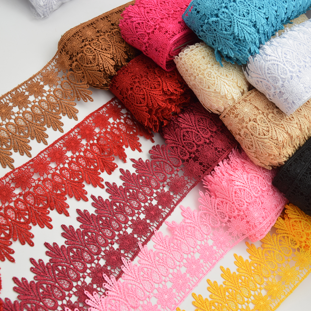 15yards Venise Lace trim wedding DIY crafted sewing    8cm 11color for choose