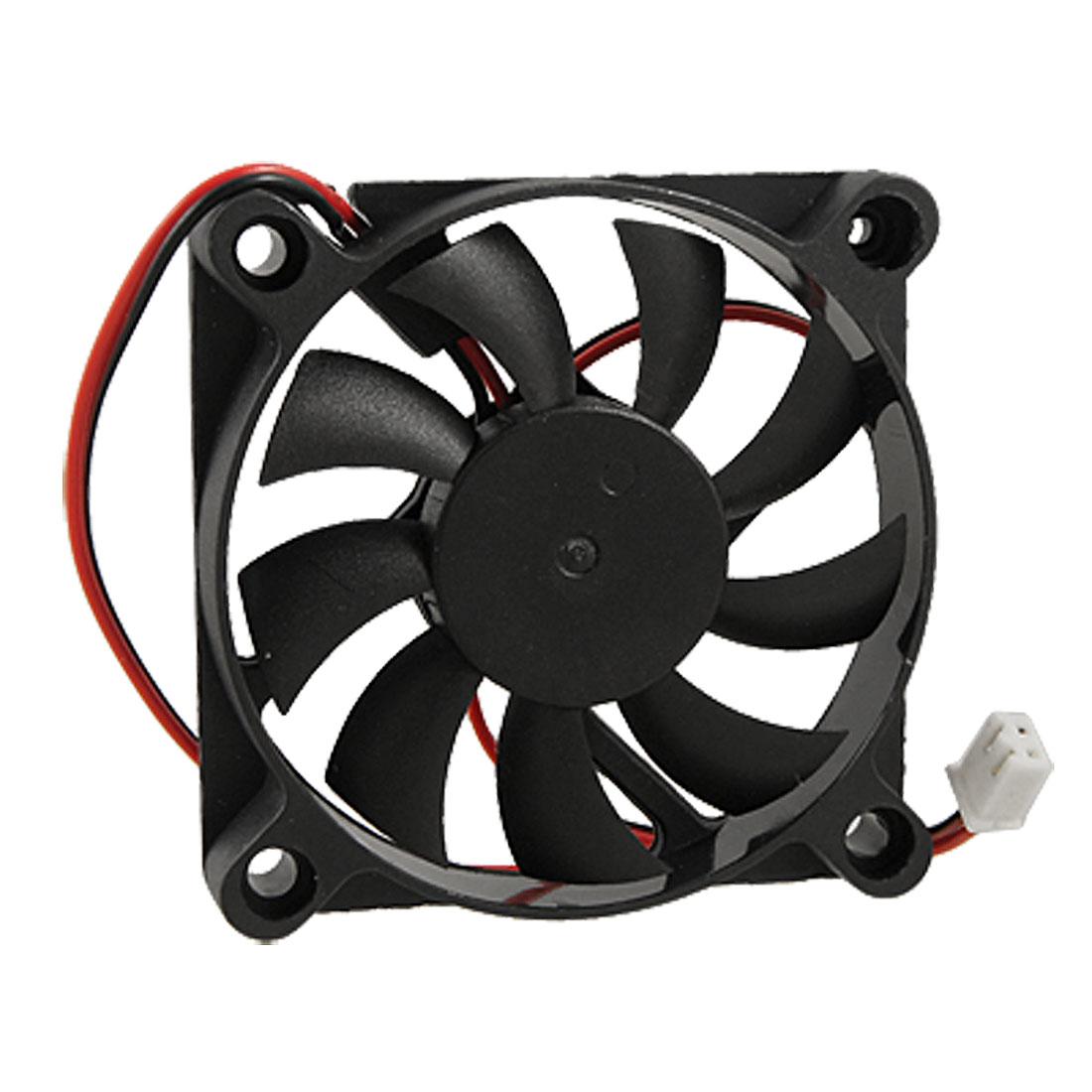 YOC Hot Desktop PC Case DC 12V 0.16A 60mm 2 Pin Cooler Cooling Fan