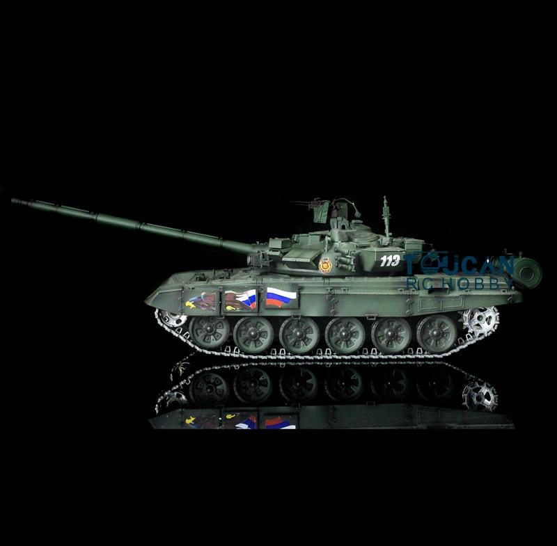 Henglong 1/16 Scale Darkish Green Upgraded Metal Ver Russian T90 RTR RC Tank 3938 henglong 3938 3938 1 russian t90 1 16 rc tank upgrade parts metal chain set driving wheel inducer free shipping