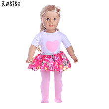 The 2018 hot sell dress suit 18 inch American Doll Black Polka Dot Dress for  doll accessories as best gift m207