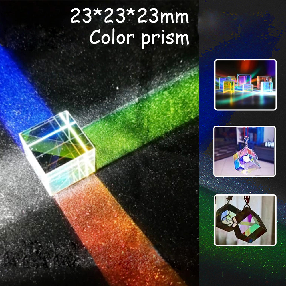 1Pc Optical Instrument 23x23x23mm Cube Prism Spectroscopic prism optical experiment Prism GMN