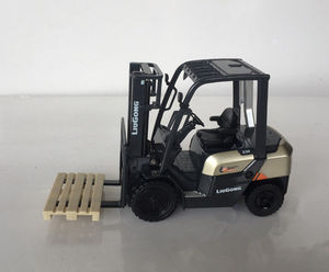 Collectible Alloy Model Gift 1:25 Scale Liugong CLG2030H Heavy Fork Lift Engineering Machinery Diecast Toy Model for Decoration