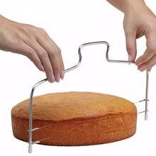 Stainless Steel Slicer Adjustable 2-Wire Cake Leveler Baking Cutter Decorating Tools Ustensiles Patisserie