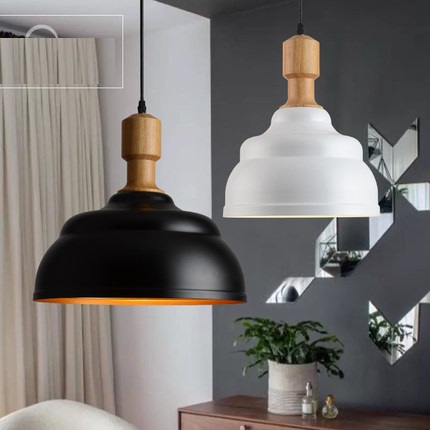 Simple LED Wooden Droplight Industrial Wind Modern Pendant Light Fixtures For Living Dining Room Hanging Lamp Home Lighting fashion guitar led droplight modern lustre crystal pendant light fixtures for living dining room hanging lamp home lighting