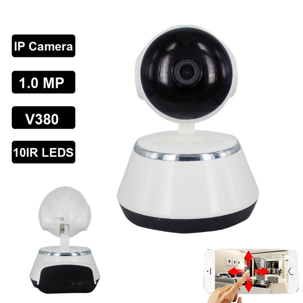 v380 ip camera 720p wifi wireless ip camera cctv security camera two way audio baby monitor easy. Black Bedroom Furniture Sets. Home Design Ideas
