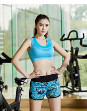 The new yoga suit Summer female gym suit yoga running riding sports bra and shorts two-piece outfit