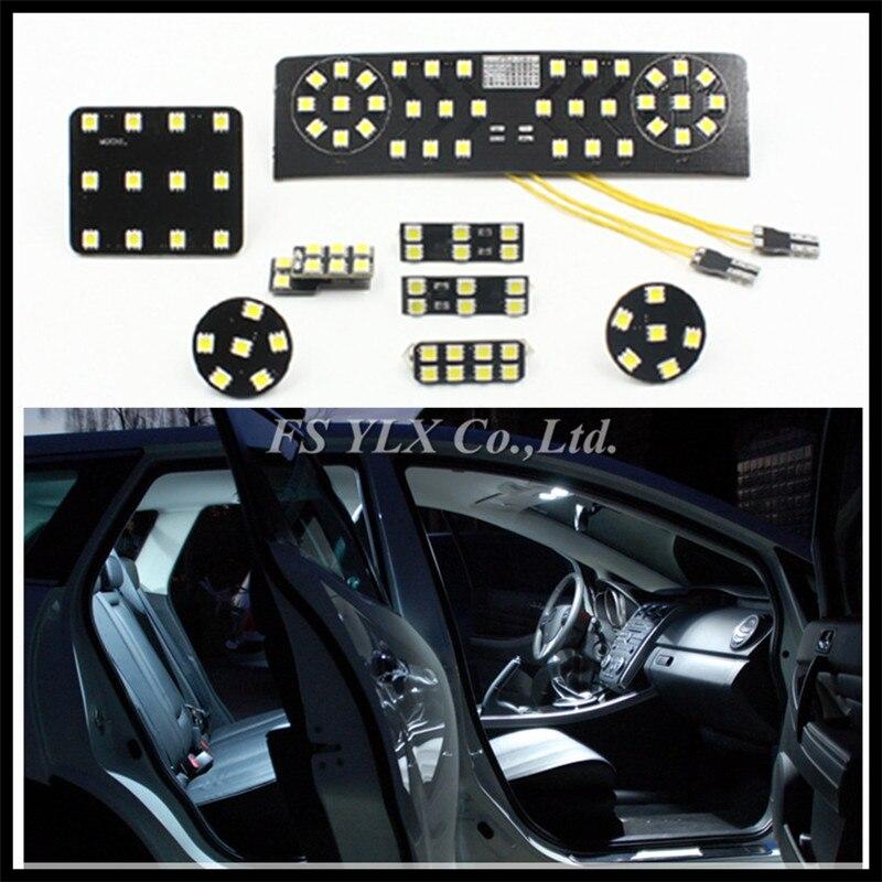 8PCS/SET for VW Interior LED Lamps SMD 5050 LED car Reading light for VW Passat B6 CC Jetta MK5 Trunk Reading Light Panel Kit supra sfd 35u