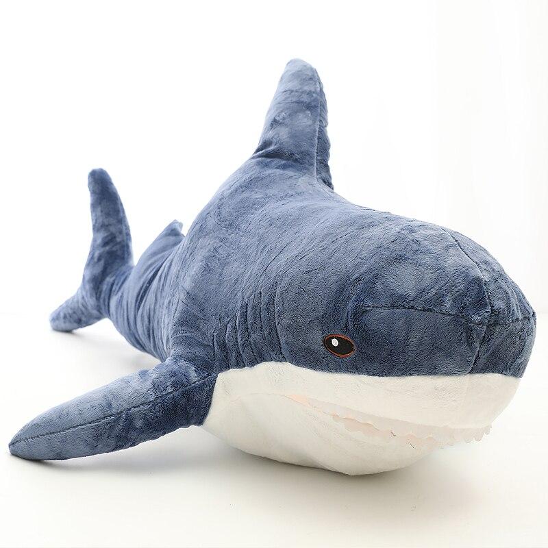 Pop Doux Animal Requin En Peluche Jouet Grand Bourré Anime Mordre Requins Oreiller pour Enfants Adulte Cadeau Décoration 39 pouces 100 cm