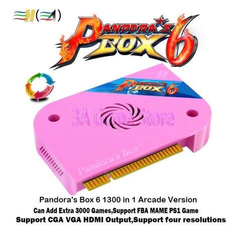 Caixa de Pandora Tabuleiro de Jogo de Arcade 1300 em 1 6 Versão Pcb Jamma Cga Crt Vga Saída Hdmi hd 720 p Apoio Jogo Ps1 Fba Mame 3d Tekken